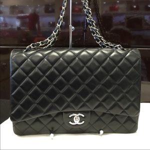 Authentic Chanel Maxi Double Flap Bag